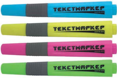 Набор текстмаркеров Index IMH530/4 2.5 мм 4 шт разноцветный