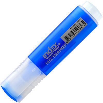 Текстмаркер Index 1 мм синий