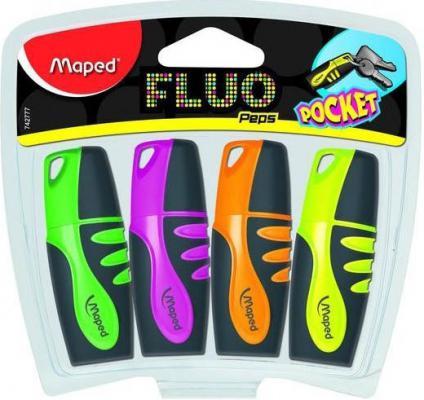 Набор текстмаркеров Maped FLUO PEP'S POCKET 1 мм 4 шт разноцветный 742777 742777