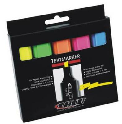 Набор текстмаркеров Laco TM 50 1 мм 5 шт разноцветный 2614010 2614010