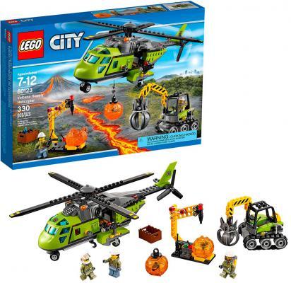 Конструктор Lego City Грузовой вертолёт исследователей вулканов 330 элементов 60123