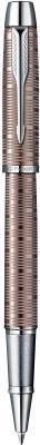 Ручка-роллер Parker IM Premium Brown Shadow CT черный F S1906781