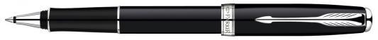 Купить Ручка-роллер Parker Sonnet Black Lacque CT синий S0808820 хромированные детали