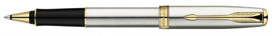 Ручка-роллер Parker Sonnet Stainless Steel GT S0809130 позолоченные детали