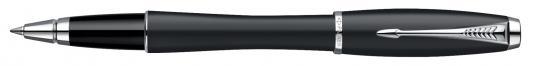 Ручка-роллер Parker Urban Muted Black CT черный S0850440 хромированные детали
