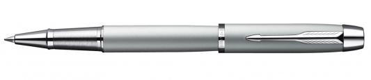 Ручка-роллер Parker IM Silver CT черный S0856370 хромированные детали, F