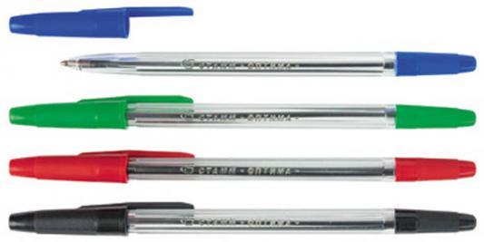Набор шариковых ручек СТАММ РО07 4 шт разноцветный 1 мм  РО07