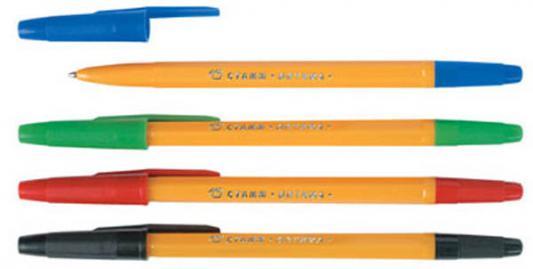 Набор шариковых ручек СТАММ РО17 4 шт разноцветный 1 мм  РО17