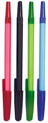 Набор шариковых ручек СТАММ РШ 049 4 шт черный синий зеленый красный 1 мм РШ07 РШ07