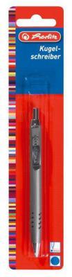Шариковая ручка автоматическая Herlitz Steel синий 8603102