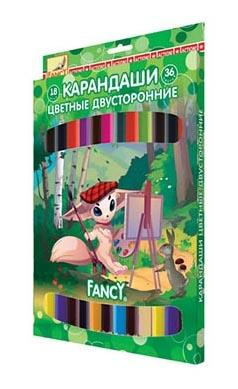 Набор цветных карандашей Action! Fancy 18 шт двухсторонние FCP321-18/36 FCP321-18/36 набор цветных карандашей action hello kitty 18 шт