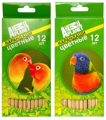 Набор цветных карандашей Action! Animal Planet 12 шт AP-ACP105-12 AP-ACP105-12