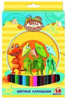 Набор цветных карандашей Action! Поезд Динозавров 18 шт DT-ACP105-18 DT-ACP105-18