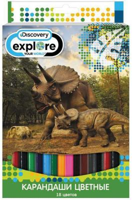 набор карандашей цветных трехгранных action dc comics 18 цв европодвес Набор цветных карандашей Action! Discovery 18 шт DV-ACP105-18 DV-ACP105-18
