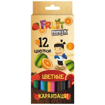 Набор цветных карандашей Action! Fruit Ninja 12 шт FN-ACP205-12 FN-ACP205-12