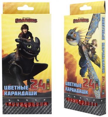 Набор цветных карандашей Action! Dragons 24 шт DR-ACP205-24