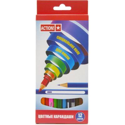 Набор цветных карандашей Action! ACP220-12 12 шт  ACP220-12
