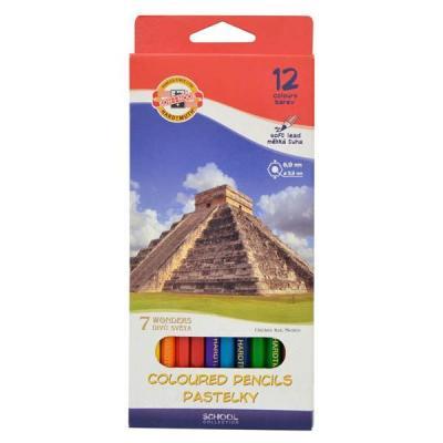 Набор цветных карандашей Koh-i-Noor 7 Чудес Света 12 шт 3652/12 27KS набор цветных карандашей koh i noor 7 чудес света 12 шт 3652 12 27ks