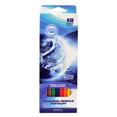 Набор цветных карандашей Koh-i-Noor КОСМОС 18 шт 17.5 см 3653/18 28 KS 3653/18 28 KS цена 2017