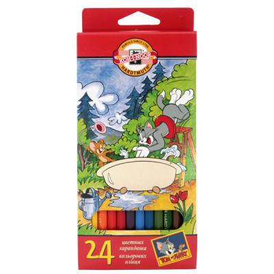 Набор цветных карандашей Koh-i-Noor ТОМ И ДЖЕРРИ 24 шт 17.5 см 3654/24 23KS