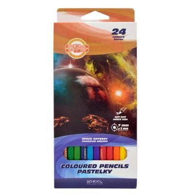 Набор цветных карандашей Koh-i-Noor КОСМОС 24 шт 3654/24 28 KS