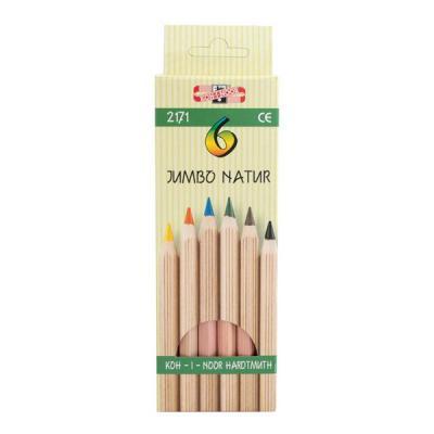 Набор цветных карандашей Koh-i-Noor JUMBO NATUR 6 шт 2171N/6 2171N/6