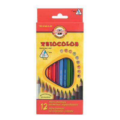 Набор цветных карандашей Koh-i-Noor Triocolor 12 шт 17.5 см 3132/12 набор цветных карандашей koh i noor triocolor 24 шт 17 5 см 3134 24