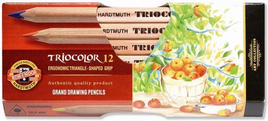Набор цветных карандашей Koh-i-Noor TrioColor 12 шт 17.5 см 3152N/12 KS