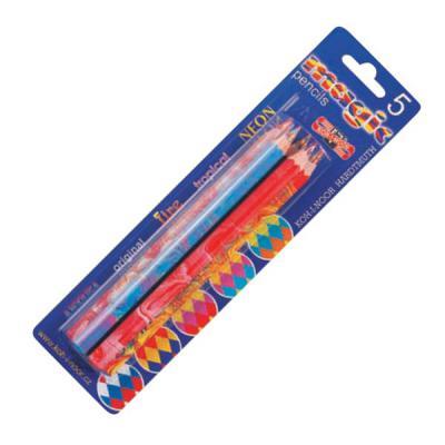 Набор цветных карандашей Koh-i-Noor Magic 5 шт 17.5 см 3406 набор цветных карандашей koh i noor triocolor 24 шт 17 5 см 3134 24