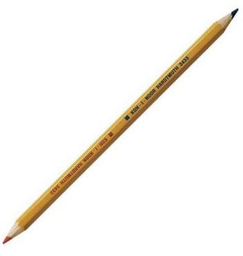 Карандаш цветной Koh-i-Noor 3433 двухсторонние красно-синий 3433 пайетки двухсторонние