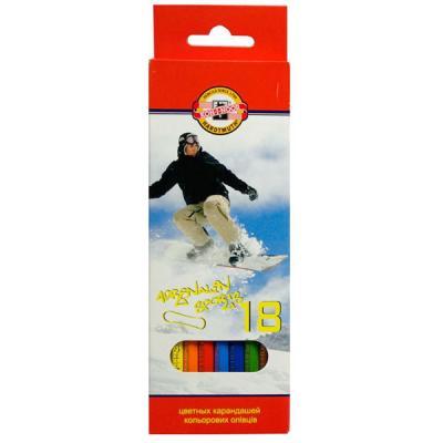 Набор цветных карандашей Koh-i-Noor СПОРТ 18 шт 17.5 см 3553/18 7 KS 3553/18 7 KS