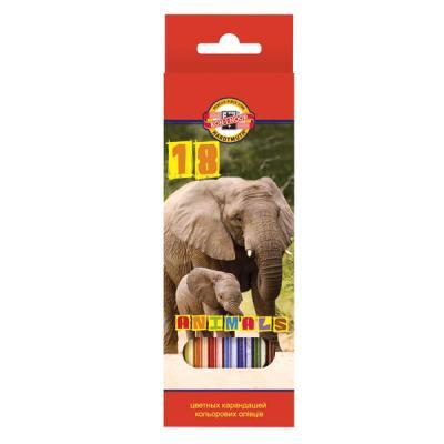 Набор цветных карандашей Koh-i-Noor ЖИВОТНЫЕ 18 шт 17.5 см 3553/18 8 KS 3553/18 8 KS