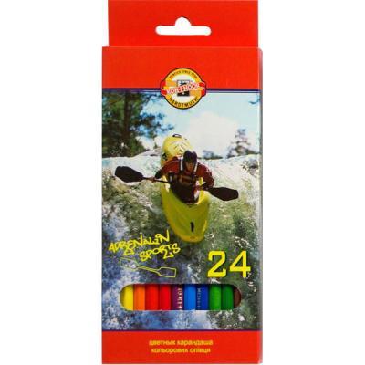 Набор цветных карандашей Koh-i-Noor СПОРТ 24 шт 17.5 см 3554/24 7 KS 3554/24 7 KS