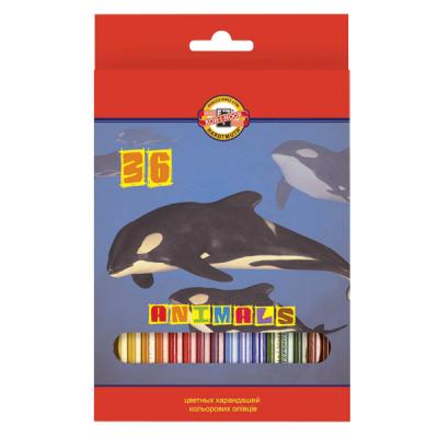 Набор цветных карандашей Koh-i-Noor ЖИВОТНЫЕ 36 шт 17.5 см 3555/36 8 KS 3555/36 8 KS миксер bosch mfq 3555