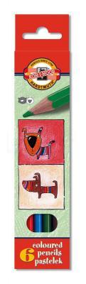 Набор цветных карандашей Koh-i-Noor Кошки+Собаки 6 шт односторонние 3591/6 5 KS 3591/6 5 KS