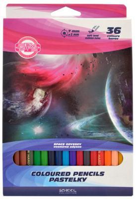 Набор цветных карандашей Koh-i-Noor Космос 36 шт 3655/36 28 KS цена 2017
