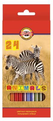 Набор цветных карандашей Koh-i-Noor Животные 24 шт 3554/24 8 KS 3554/24 8 KS цена 2017