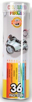 Купить Набор цветных карандашей Koh-i-Noor 3578/36 24 шт металлический пенал 3578/36