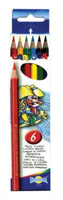 Набор цветных карандашей Universal Carioca 6 шт 17.5 см односторонние 41256 41256