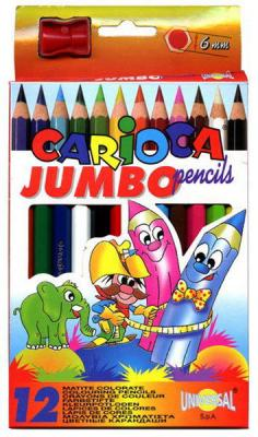 Фото - Набор цветных карандашей Universal Carioca Jumbo 12 шт 41406/12 набор цветных карандашей universal carioca jumbo 12 шт 41406 12
