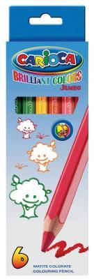 Набор цветных карандашей Universal Carioca Jumbo 6 шт односторонние 41407/6 41407/6