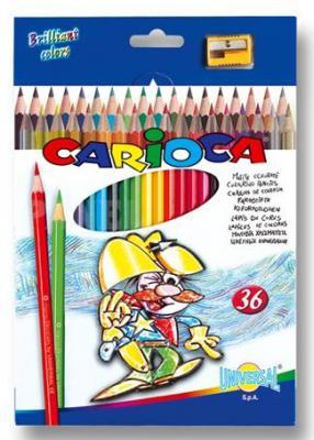 Фото - Набор цветных карандашей Universal Carioca 36 шт 41875 + точилка набор цветных карандашей universal carioca jumbo 12 шт 41406 12