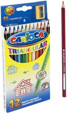 Набор цветных карандашей Universal Carioca Triangular 12 шт 42515/12 + точилка 42515/12 carioca набор экстра крупных восковых карандашей baby 10 цветов точилка