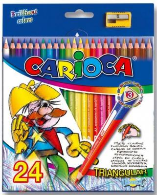 Набор цветных карандашей Universal Carioca Triangular 24 шт 42516/24 + точилка