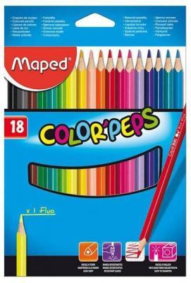 Набор цветных карандашей Maped Color Peps 18 шт 17.5 см 183218 карандаши набор 15цв maped мапед color peps в пластиковом пенале