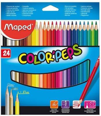 Набор цветных карандашей Maped Color Peps 24 шт 17.5 см 183224 карандаши набор 15цв maped мапед color peps в пластиковом пенале