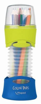 Набор цветных карандашей Maped Color Peps 12 шт 683212 в тубусе-подставке maped набор цветных карандашей 12 цв