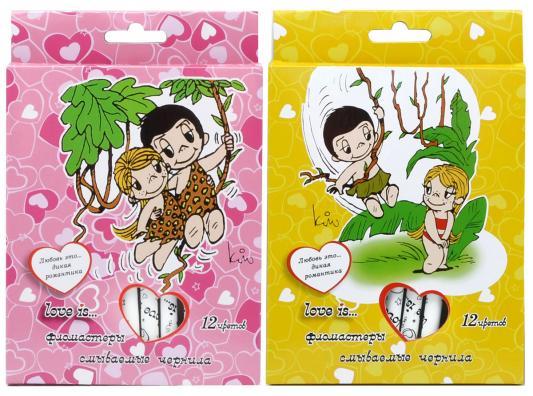 Набор фломастеров Action! Love is 12 шт разноцветный LI-AWP205-12 LI-AWP205-12