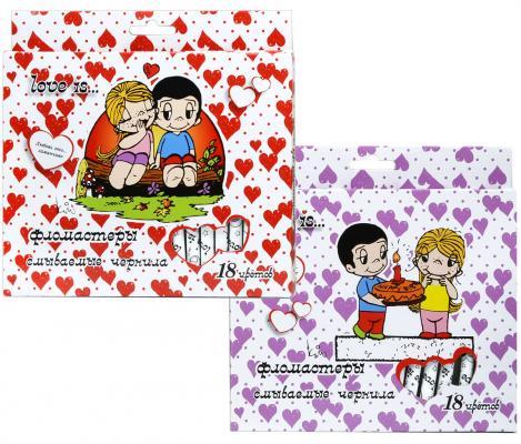 Набор фломастеров Action! Love is 2 мм 18 шт разноцветный LI-AWP205-18 в ассортименте