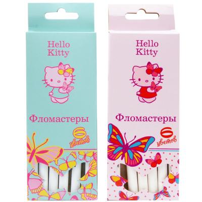 Набор фломастеров Action! Hello Kitty 6 шт разноцветный HKO-AWP205-6 в ассортименте HKO-AWP205-6